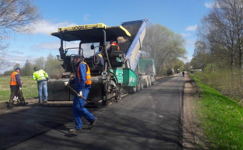 В Псковском районе идет ремонт дороги Подборовье-Лопатово-Боровичи, фото-1